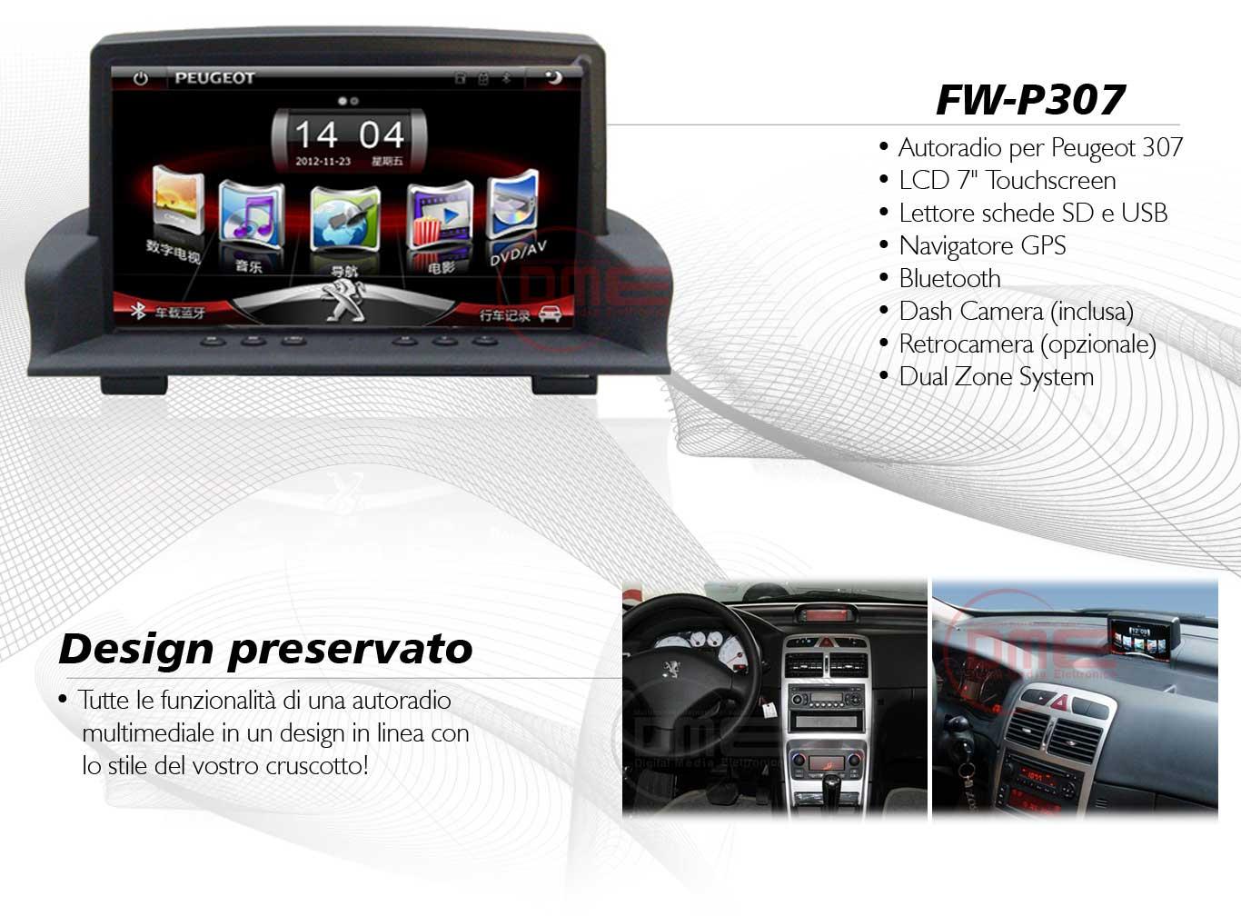autoradio multimediale per Peugeot 307 (fino al 2008)
