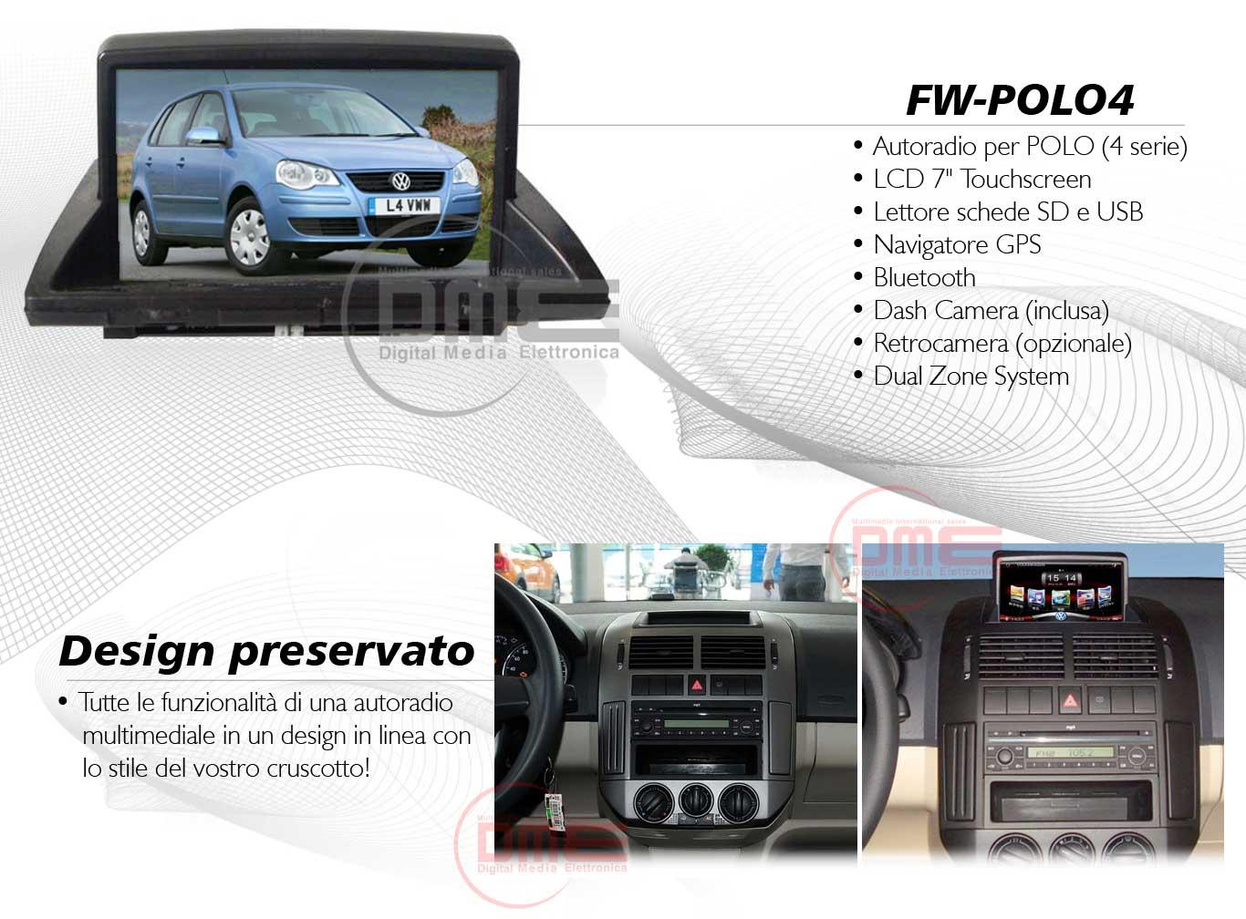 autoradio multimediale per Volkswagen Polo (4 Serie)