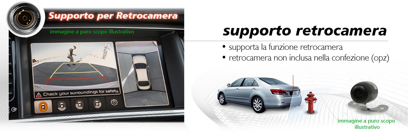 autoradio Fiat 500 con retrocamera