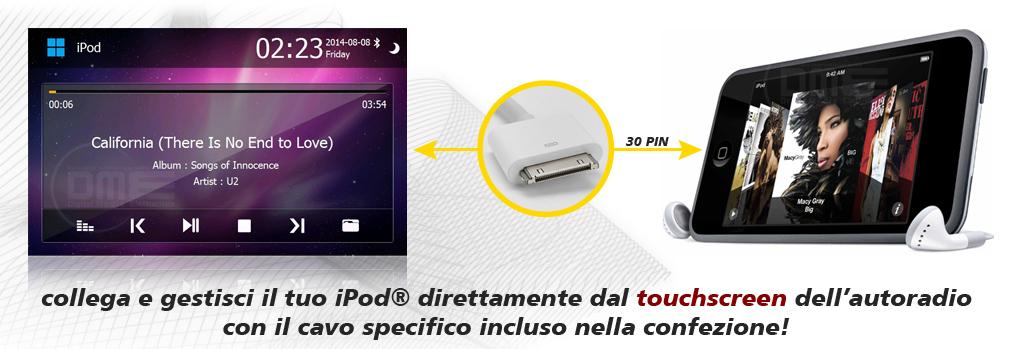 autoradio Fiat 500 con ipod