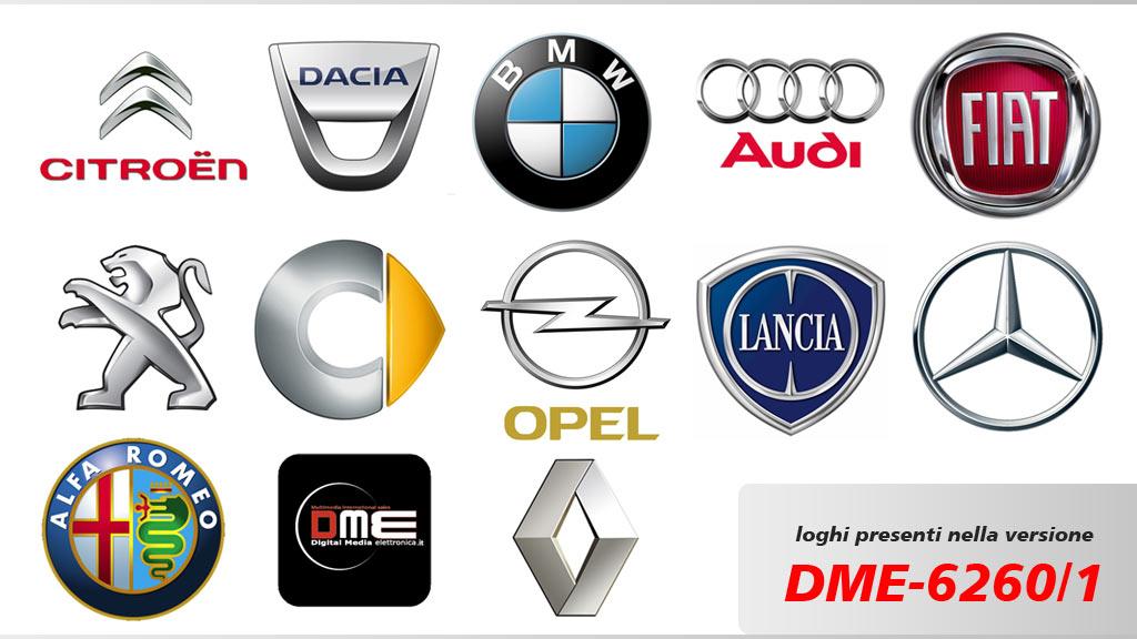 autoradio con logo auto