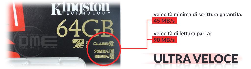 Scheda di memoria microSDHC / microSDXC