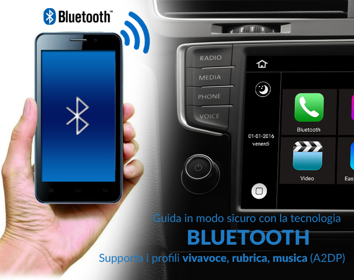autoradio andorid bluetooth