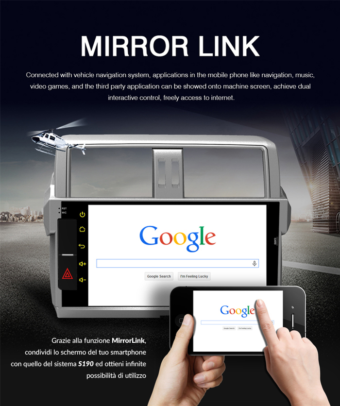 autoradio specifica mirrorlink