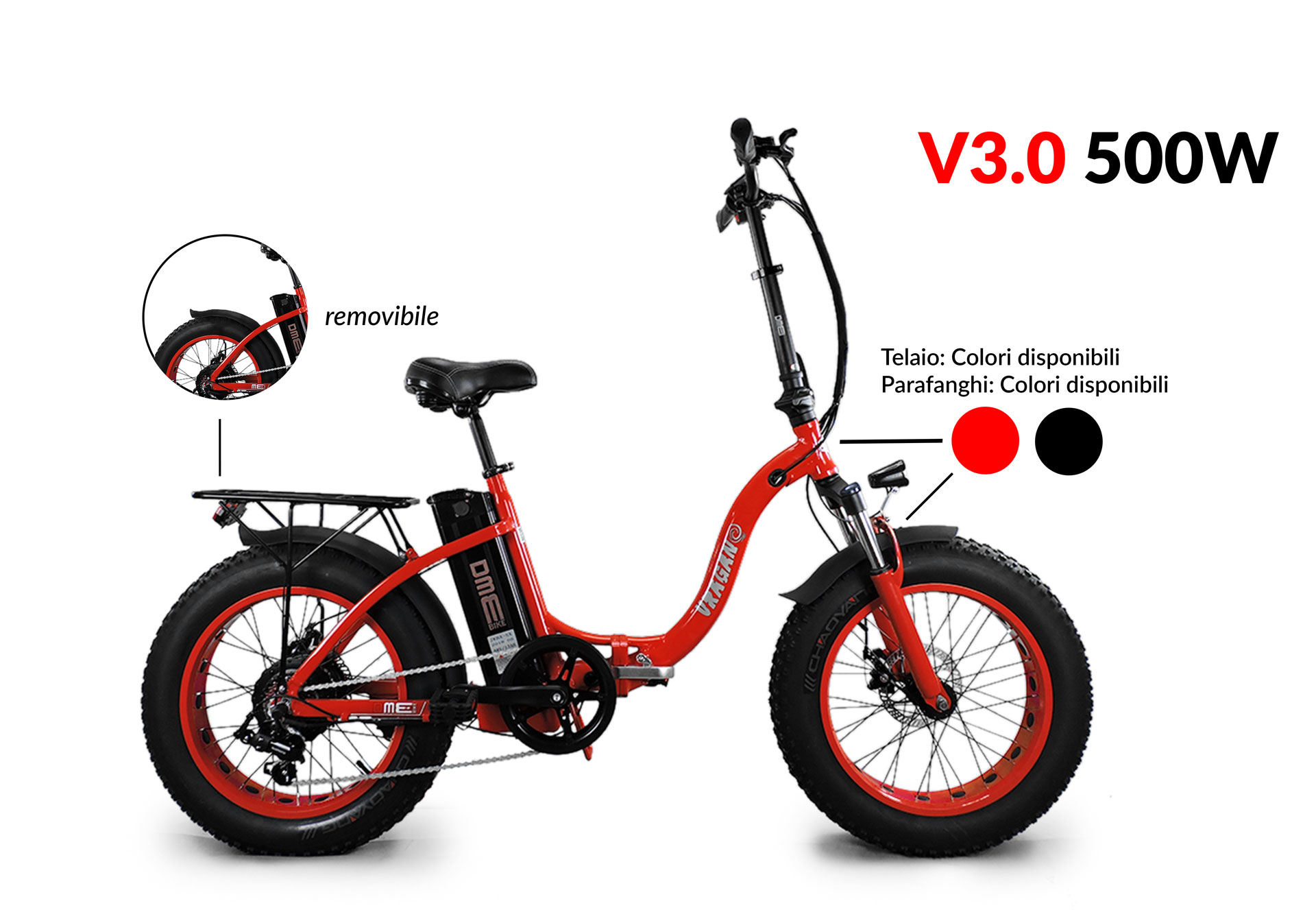 fat-bike elettrica 250 watt