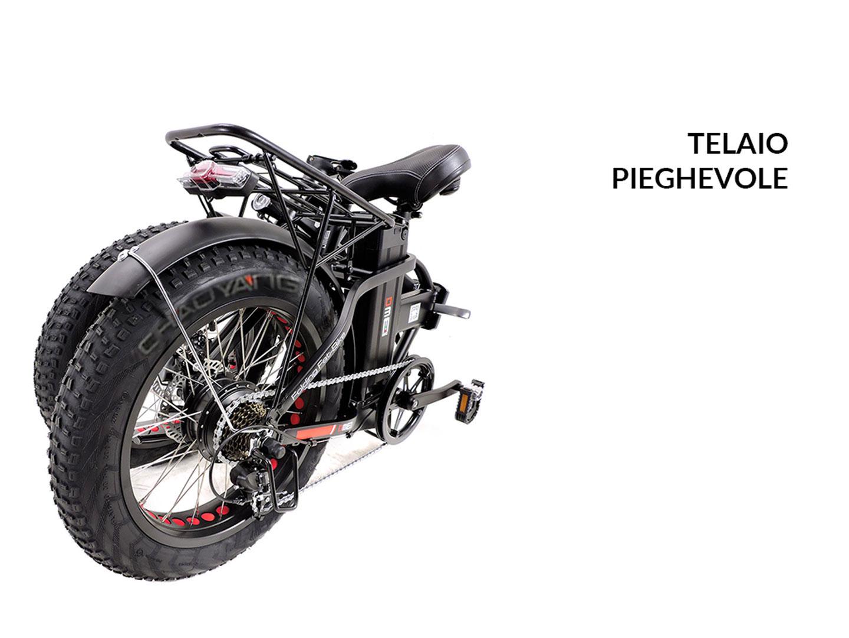 fat-bike elettrica pieghevole