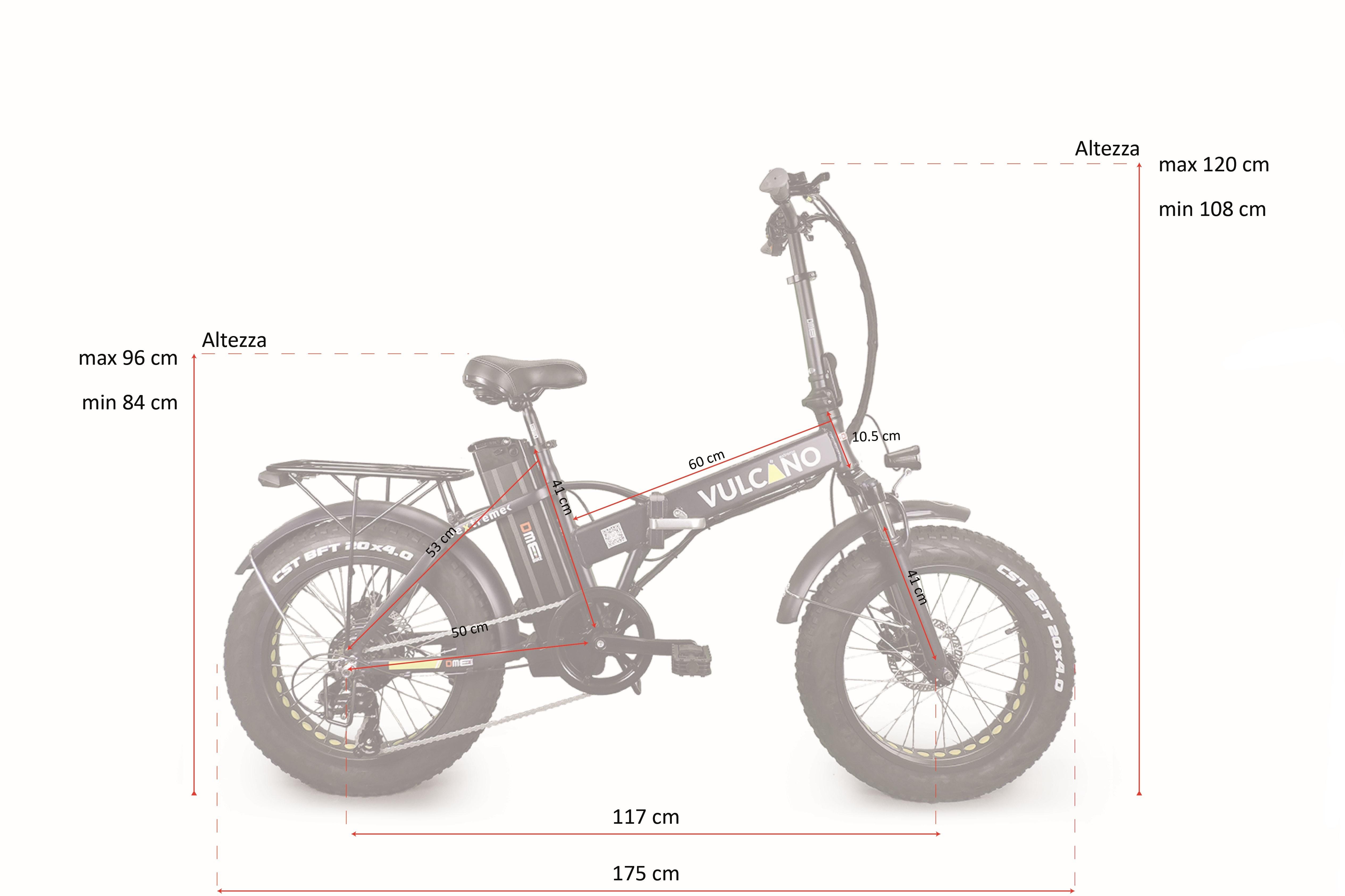 fat-bike elettrica misure aperta