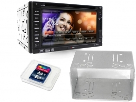 "2DIN Doppio Din Autoradio ARM 11 6.2"" Full HD GPS DVD MP3 GPS USB SD"