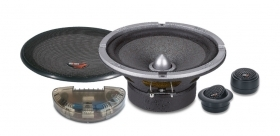 KS 65 Impact Sistema 2 vie altoparlanti casse woofer tweeter 16,5cm 25mm