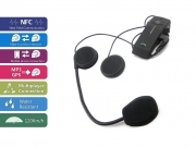 Kit interfono Intercom fino a 3 casco da moto scooter bici Bluetooth NFC Mp3 1Km