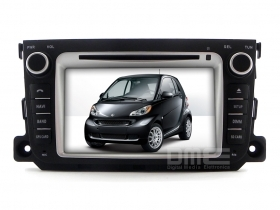 "Autoradio Smart ForTwo 3 Serie 2011-2012 7"" HD Touchscreen DVD GPS BT USB iPod"