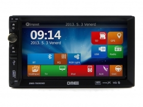 "Autoradio 2 Din 7"" Touch Navigatore GPS USB SD Mp3 Mpeg4 Xvid Bluetooth NO DVD"