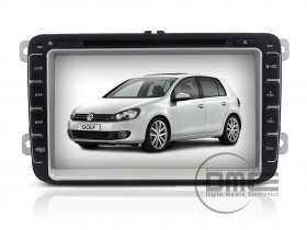 "VW GOLF 5 6 VI Seat Skoda Autoradio 8"" HD Touch DVD MP3 GPS Navi USB SD WiFI NET"