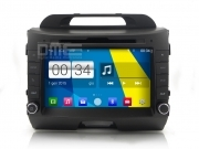 "Kia Sportage Android 4.4 Autoradio 8"" HD Touchscreen DVD Navi GPS BT USB SD Wifi"