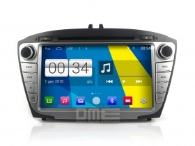 Autoradio Hyundai ix35 Android 4.4 Touchscreen 8'' HD DVD Navi GPS BT USB Wifi
