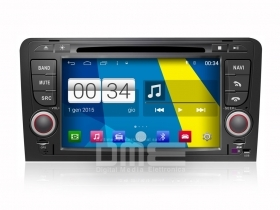 "Autoradio Audi A3 Android 4.4.4 Touchscreen 7"" HD DVD Navi GPS BT USB SD Wifi"