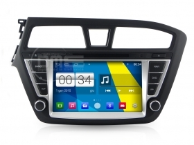 "Autoradio Hyundai i20 2015 Android 4.4 Touchscreen 8"" HD DVD Navi GPS BT SD Wifi"