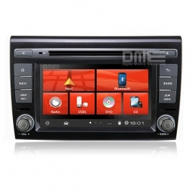 "Autoradio Fiat Bravo 7"" HD 1080P Touch Navigatore GPS DVD BT USB SD MirrorLink"