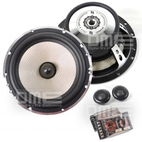 "Tempt KIT CASSE Altoparlanti 2 Vie 16cm 6,5"" 1000W TWEETER X-OVER Silk Titanium"