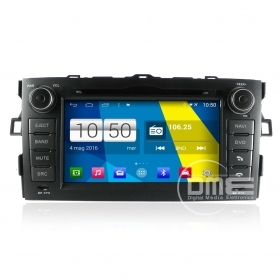 "Autoradio Toyota Auris 2007-11 Android 4.4 Touch 7"" HD DVD Navi GPS BT USB SD"