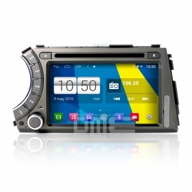 "Autoradio SsangYong Actyon Kyron Android 4.4 Touch 7"" HD DVD Navi GPS BT USB SD"