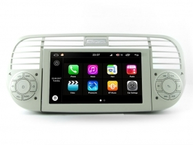 "Autoradio Fiat 500 Cinquecento dal 2007 Android 8.0 Touch 6.2"" HD DVD GPS S200"