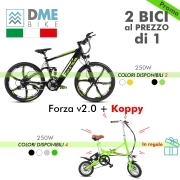 2PZ BICI BICICLETTA ELETTRICA Mountain Bike Forza 2.0 250W + Folding Bike Koppy