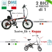 2PZ BICI BICICLETTA ELETTRICA Carbon Bike Suxive E6 250W e Folding Bike Koppy