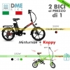 2PZ BICI BICICLETTA ELETTRICA Folding Bike Minturnae 350W + Folding Bike Koppy