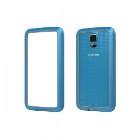 CUSTODIA PER SAMSUNG GALAXY S5 G900 BUMPER PATRICK FRAME-S5A LIGHT BLUE