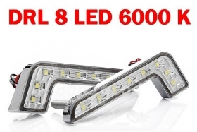 DRL Kit strisce 2 Luci Diurne LED 8 POWERLED 8W Mercedes Benz Style