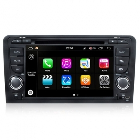 "Autoradio Audi A3 2003-12 Android 8.0 Touch 7"" HD DVD GPS Bluetooth WIFI S200"