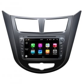"Autoradio Hyundai Verna/Accent 2011 Android 8.0 Touch 7"" HD DVD GPS WIFI S200"
