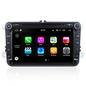 "Autoradio Volkswagen Golf/Seat Skoda 2003-16 Android 8.0 Touch 8"" HD GPS BT S200"
