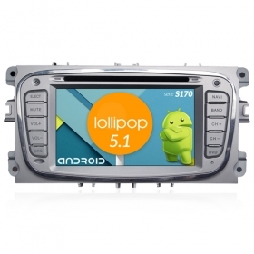 "Autoradio Ford Mondeo Focus S-Max Android 5.1 6,2"" HD Touch DVD Navi GPS BT S170"
