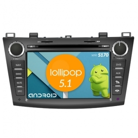 "Autoradio MAZDA 3 2010-11 Android 4core 8"" HD Touch DVD Navi GPS BT ML WIFI S170"