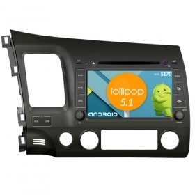 "Autoradio Honda Civic 2007-11 Android 5.1 8"" HD Touch DVD Navi GPS BT WIFI S170"