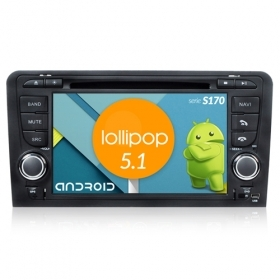 "Autoradio Audi A3 2003-12 Android 4core 7"" HD Touch DVD Navi GPS BT ML WIFI S170"