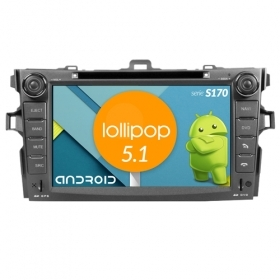 "Autoradio TOYOTA Corolla / Altis 2008+ Android 5.1 8"" HD Touch DVD Navi GPS S170"