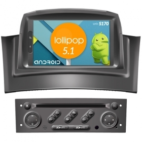 "Autoradio RENAULT Megane 2 Fluence 2002-08 Android 5.1 7"" HD Touch DVD Navi S170"