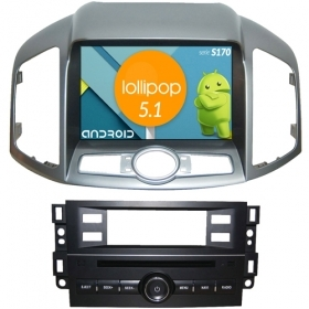 "Autoradio Chevrolet Captiva 2011-13 Android 8"" HD Touch DVD Navi GPS BT ML S170"