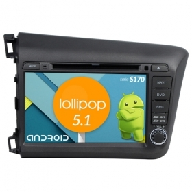 "Autoradio Honda Civic 2012 Android 5.1 8"" HD Touch DVD Navi GPS BT ML WIFI S170"