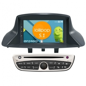 "Autoradio RENAULT Megane 3 Fluence 2009-11 Android 5.1 7"" HD Touch DVD Navi S170"
