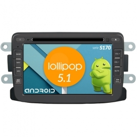 "Autoradio Dacia Duster 2014-16 Android 5.1 7"" HD Touch DVD Navi GPS BT WIFI S170"