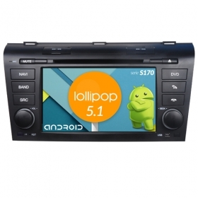 "Autoradio Mazda 3 2004-09 Android 4core 7"" HD Touch DVD Navi GPS BT ML WIFI S170"