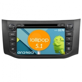 "Autoradio NISSAN Sentra Android 4core 8"" HD Touch DVD Navi GPS BT ML WIFI S170"