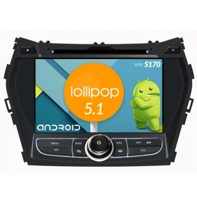 "Autoradio Hyundai IX45 / Santafe 2013 Android 5.1 Touch 8"" HD DVD GPS WIFI S170"