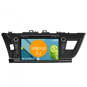"Autoradio Toyota Corolla 2014  Android 5.1 9"" HD Touch DVD Navi GPS BT WIFI S170"