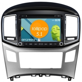 "Autoradio Hyundai H1 Android 4core 8"" HD Touch DVD Navi GPS BT ML WIFI S170"