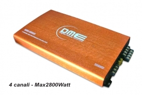 Amplificatore DME 4080JO 2800W 200W RMS 4 canali MOSFET Orange series